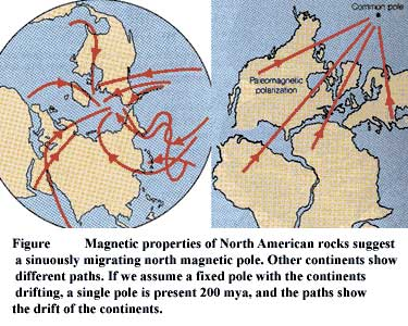 Evidence of plate tectonics paleomagnetism dating